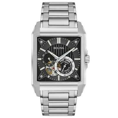 Bulova 96A194 Men's Automatic Black Dial Stainless Steel 45X39 mm Watch