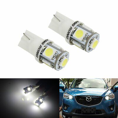 2X T10 Led White Car Bulbs  501 194 168 W5W 5 Smd Side Tail Wedge Light Lamp