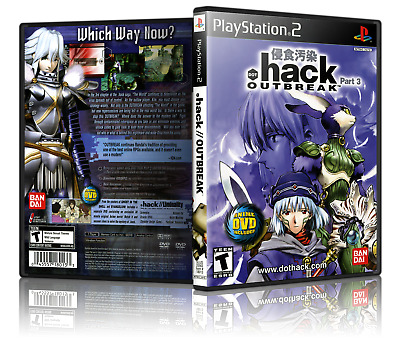 DOT HACK OUTBREAK Replacement PS2 Cover and Case  NO GAME