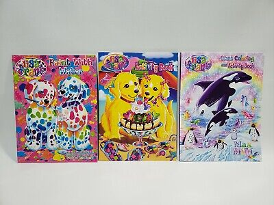 LISA FRANK LOT - Paint with Water, Activity Book w Stickers ...