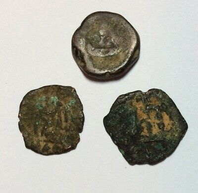 Lot Of 3X Authentic Ancient Roman And Byzantine Coins M Details Bronze Copper Ad