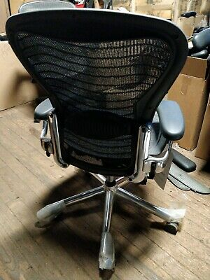 Herman Miller Aeron Mesh  Desk Chair Medium Sz B fully adjust lumbar chrome NEW