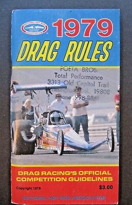 NHRA 1979 DRAG Rules-Drag Racing's Official Competition Guidelines