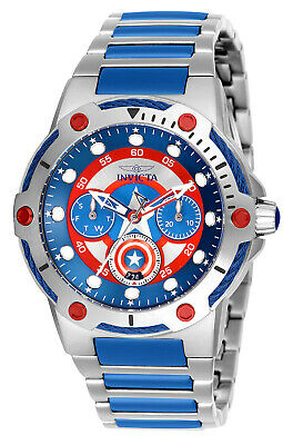 Invicta Women's 26983 Captain America Silver Blue Inserts Stainless Steel Watch