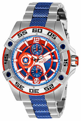 Invicta Women's 27018 Marvel Captain America  Blue Silver Stainless Steel Watch