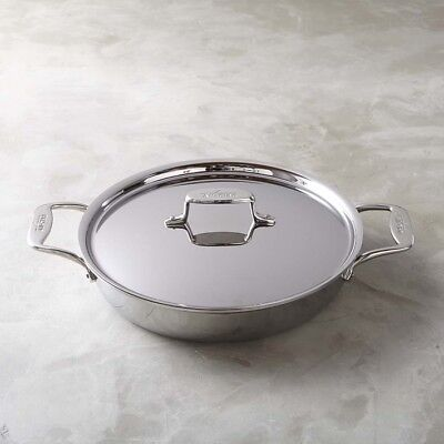 All-Clad d5 Stainless-Steel 5-Ply  Non-Stick All-In-One Pan 4-Qt with Lid