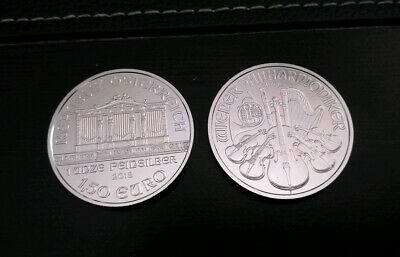 (lot of 2) 2018 Austria Silver Philharmonic silver 1 oz 1.5 Euro  no milk spots