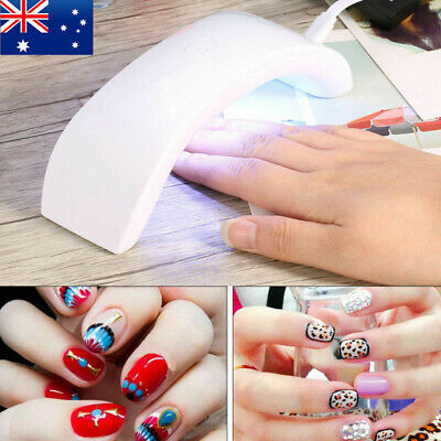 9W  UV Lamp Nail Gel Curing Machine USB Cable Mini Nail Dryer Manicure Tool AU