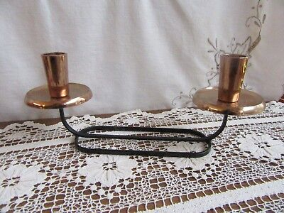 70's RETRO VINTAGE TURNER AUSTRALIA COPPER ANODISED CANDLE HOLDERS – A LITTLE SH