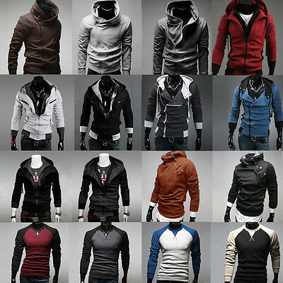 Men's Hooded Hoodie Sweatshirt Sweater Jumper Outwear Coat Jacket Blouse Shirts