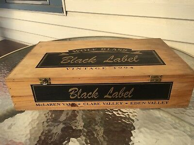 Old Wolf Blass Vintage Label 1994 Wine Timber Box