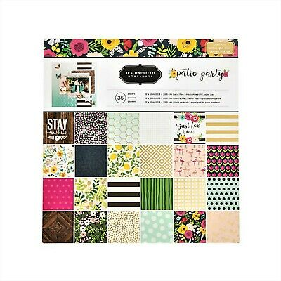 "Jen Hadfield Patio Party 12""x 12"" Paper Pad - American Crafts,Scrapbooking Paper"