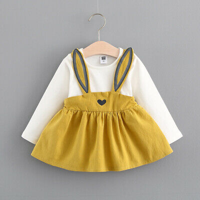 Toddler Baby Girls Long Sleeve Kids Cute Princess Wedding Party Gown Prom Dress