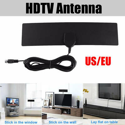 Channels Super Flat Indoor HD Signal Amplifier Digital TV Antenna HDTV 50Miles