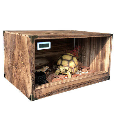 Wooden Reptile Vivarium Snake Lizard Anole Housing Breeding Box Two-way Door CA