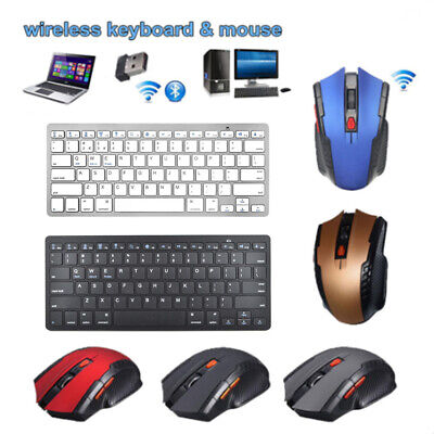 Wireless Bluetooth Keyboard With Optical Multiple Mouse For Windows Laptop MAC