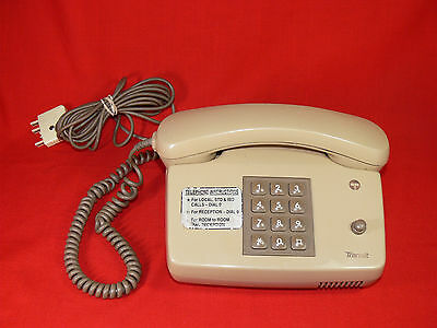 Vintage TELECOM AUSTRALIA Transit Courier Telephone OLD MOTEL PHONE Works RETRO