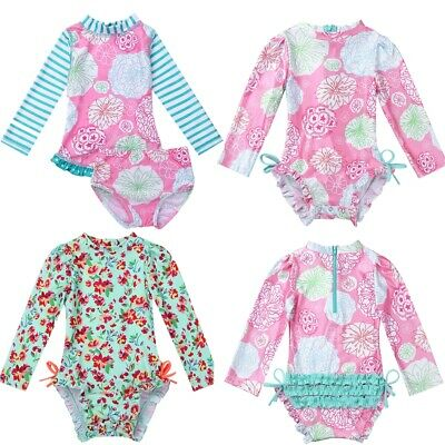 e396fa5c6b22c UPF50+ Rash Guard Shirt Swimsuit Baby Girls Bathing Swimwear Tankini  Beachwear