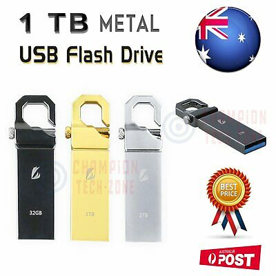 1TB USB Flash Drive Memory Storage Stick U Thumb Key Disk Metal Waterproof AU