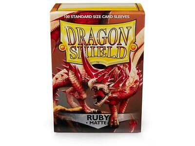 Dragon Shield Ruby 100 Protective Sleeves Standard Card Holder Cases