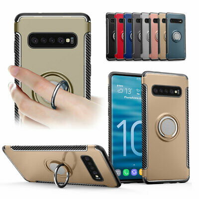 Phone Case Hard Cover With Magnetic RIng Holder For Samsung Galaxy S10E/S10/Plus