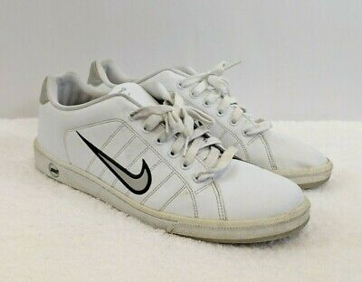 9da5ee43a0a637 Mens NIKE Court Tradition 315134 White Leather Athletic Shoes SIZE 12  Classic