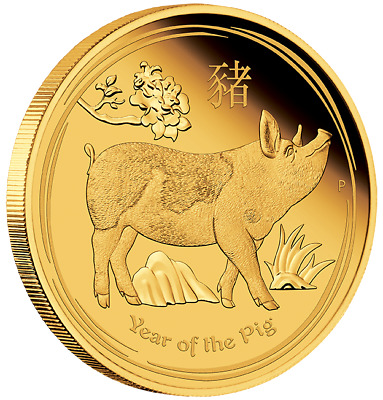 2019 Year of the Pig Australian Lunar 1oz Gold Proof Coin