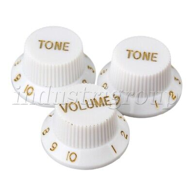 Volume Knob with Tone Knobs for Electric Guitar 5mm Knurled Inner Diameter