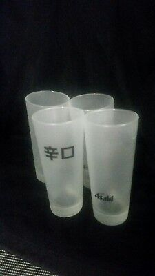Set of 4 x Japans finest Asahi frosted beer glasses new great gift idea.