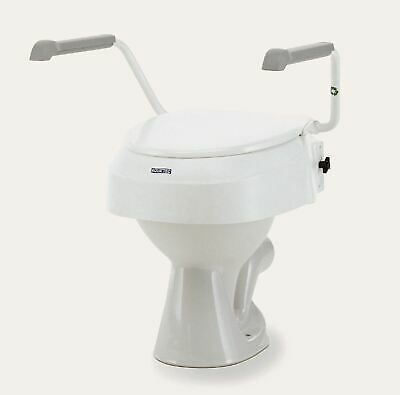"Invacare Aquatec 900 2"" 4"" or 6""  Raised Toilet Seat with Arms and Lid"