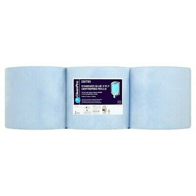 Clean Pro 6 Standard Blue Centrefeed Rolls 2 Ply
