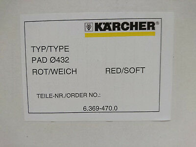 "Box of 5 GENIUNE Karcher 17"" (432mm) Medium Soft Red Floor Buffers RRP:£90"