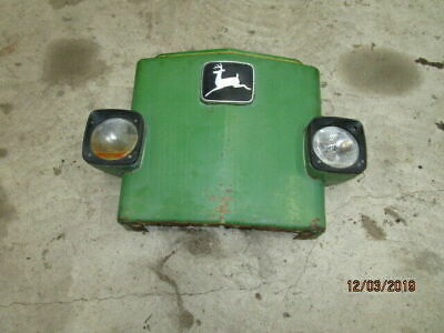 John Deere 3130 Front Cowling with Badge & Headlamps in Good Condition