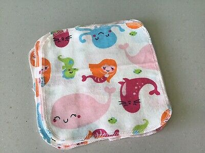 20 Cheeky Monkey Cotton Flannel Baby Wipes Family Wipes Washable Reusable  19cm