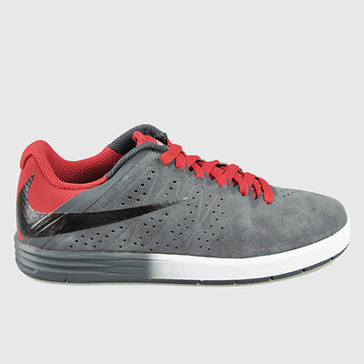 098c41da0dcb Nike Men s Paul Rodriguez Ankle-High Skateboarding Shoe Grey Black Red SZ 9