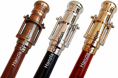 Walking Stick with Brass Telescope Set of 3 Nautical Canes Vintage Gift for Men
