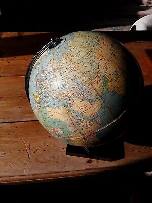 "Vintage 1961  Philips 10"" Challenge Globe With Pakistan & Afghanistan Vgc"