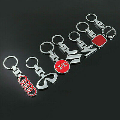 3D Metal Double Side Car Logo Keyring Key Chains Pendant for All Models Brand