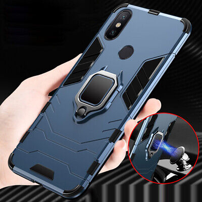 For Xiaomi Redmi Note 7 6 5 Magnetic Shockproof Kickstand Hard Armor Case Cover