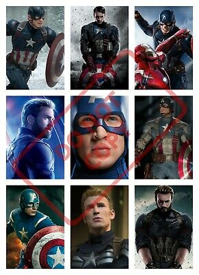 Captain America Movie Poster Collage Wall Art (1) - Various Sizes / Avengers