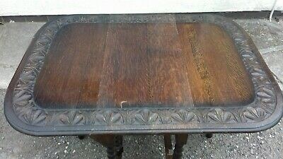Late Georgian/ Victorian carved gate-leg dining table