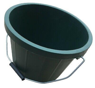 Pack Of 3 Green Buckets 2 Gallon - Calf Feed Bucket With Metal Handle