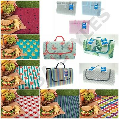Large Waterproof Folding Travel Outdoor Picnic Camping Beach Bbq Rug Mat Blanket