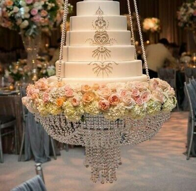 60CM Luxury Crystal Chandelier Style Cake Stand for wedding parties