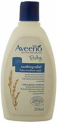 Aveeno Baby Skin Soothing Relief Emollient Wash Tear-Free and Soap-Free 354 ml