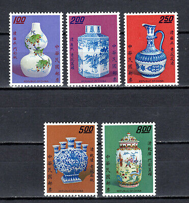 Briefmarken 1972 Roc China Taiwan Ancient Chinese Porcelain In Folder Booklet Libretto Taiwan