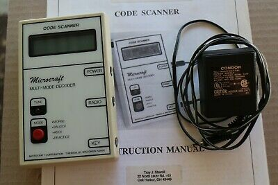 MICROCRAFT CODE SCANNER Multi Mode Decoder Reads CW and RTTY