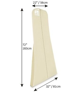 """Hoesh Breathable 72"""" Long Bridal Wedding Gown Clothes Dress Cover Garment Bags"""
