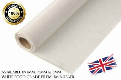 White Food Quality Solid Rubber Sheet