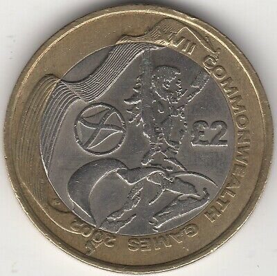2002 Commonwealth Games £2 Two Pounds Coin   British Coins   Pennies2Pounds